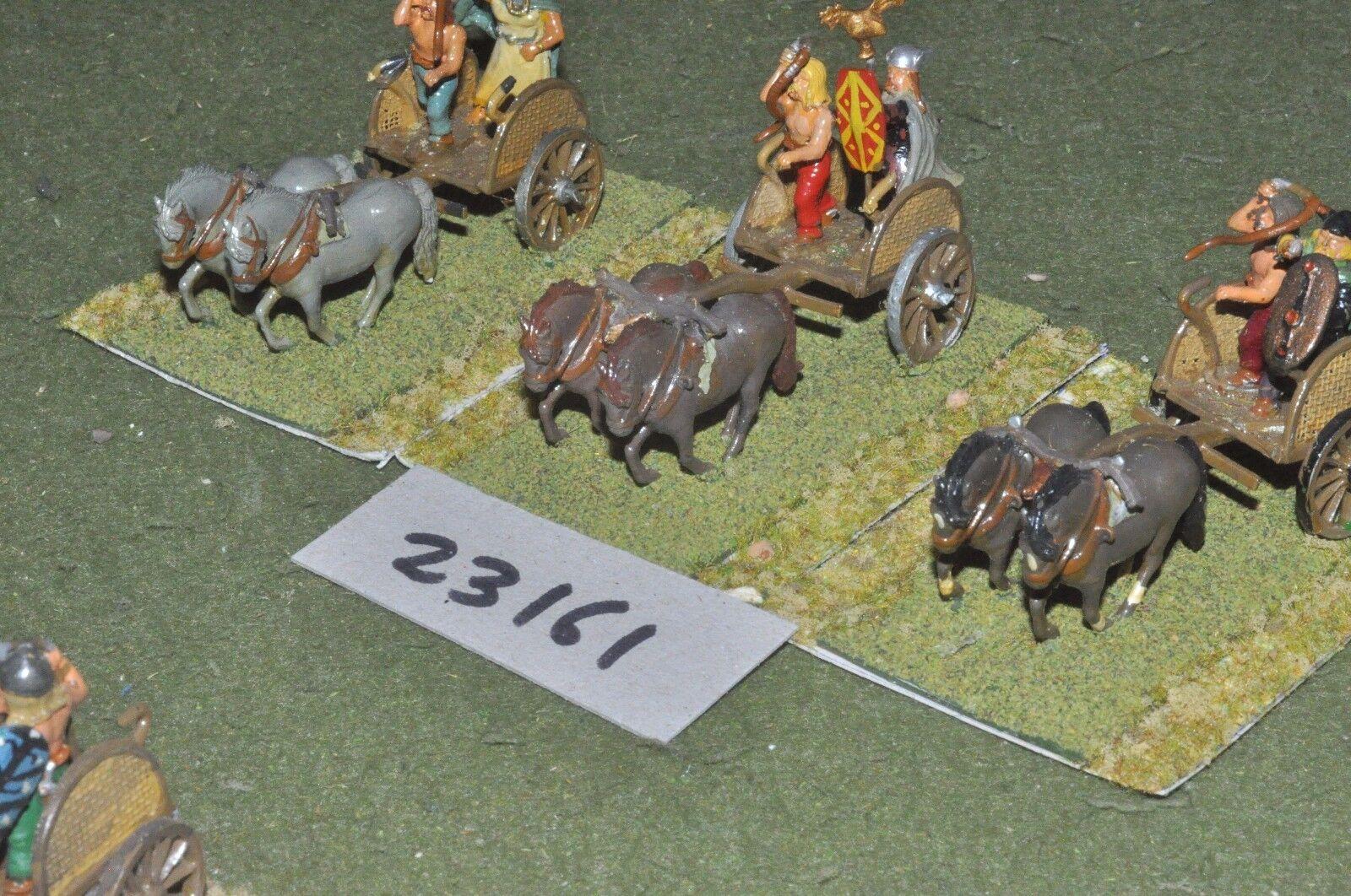 25mm roman era   gallic - 3 light - chariot (23161)