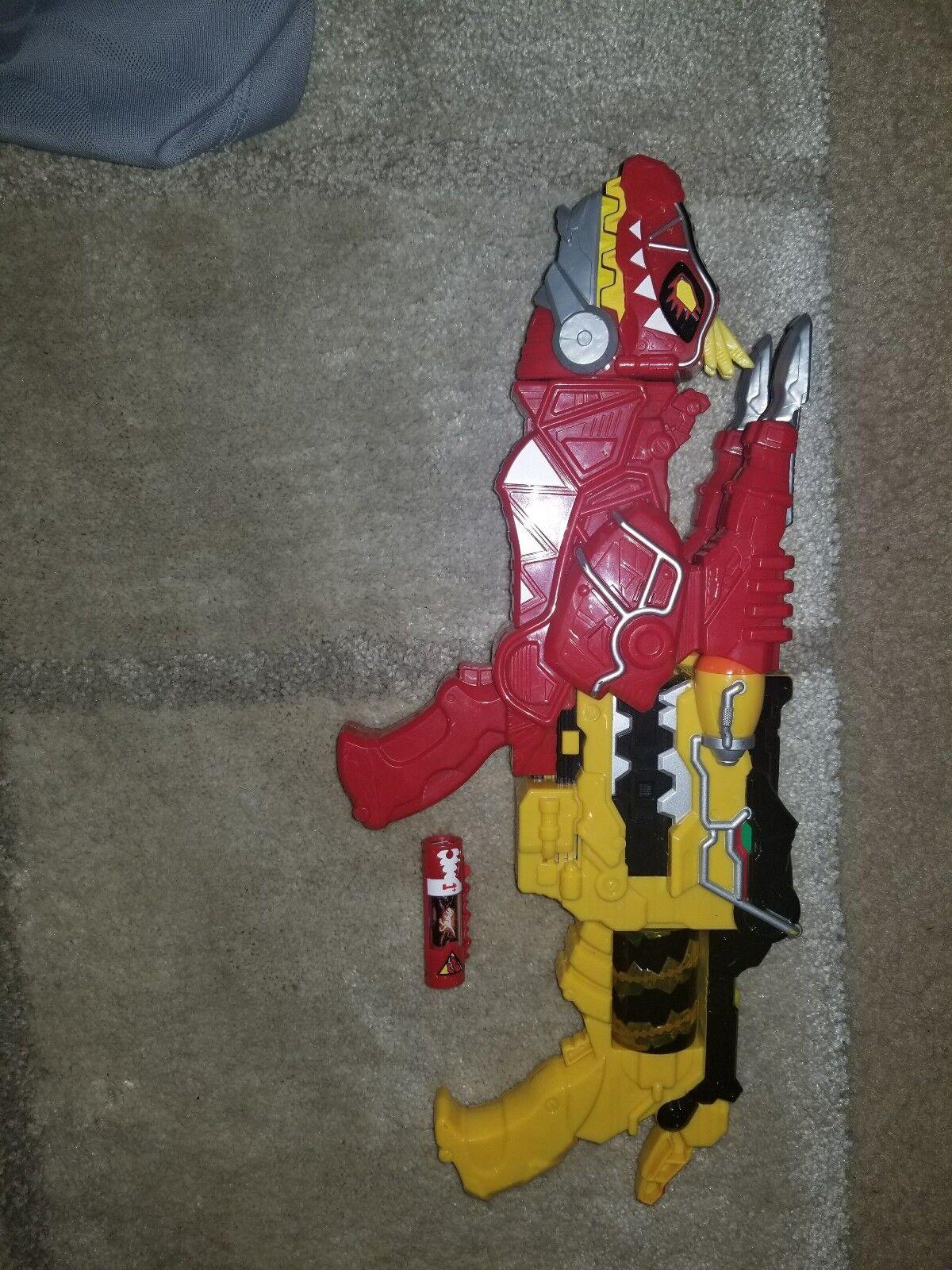 exclusivo Power Rangers Mighty Morphin Power Power Power Rangers Morpher Amarillo pistola Rojo T-REX de Dino sobreCochegadas Cochego De Lujo  distribución global