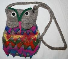 NEW FELT HIPPY OWL BAG - Fair Trade Ethnic Nepal Hippie Festival Ethical