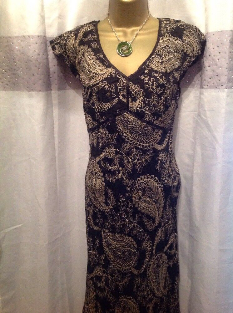 STUNNING SILK DRESS BY LAURA ASHLEY, BIAS CUT, SIZE 10-12, Fully Lined, FLORAL