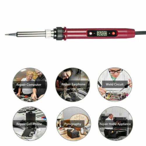 110V 220V 80W Mini Digital Temperature Adjustable Electric Soldering Iron X5G2