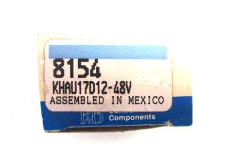 NEW POTTER /& BRUMFIELD KHAU17D12-48V RELAY KHAU17D1248V