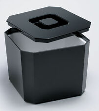 Octagonal Ice Bucket Black 4.5ltr | Plastic Square Ice Cube Bucket Cooler