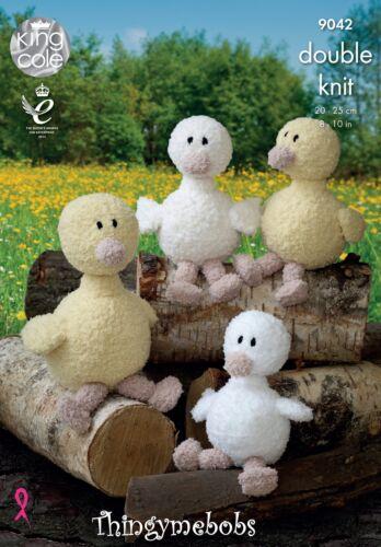 King Cole 9042 Cuddles DK ducks//ducklings Original Tejer patrón-Semana Santa