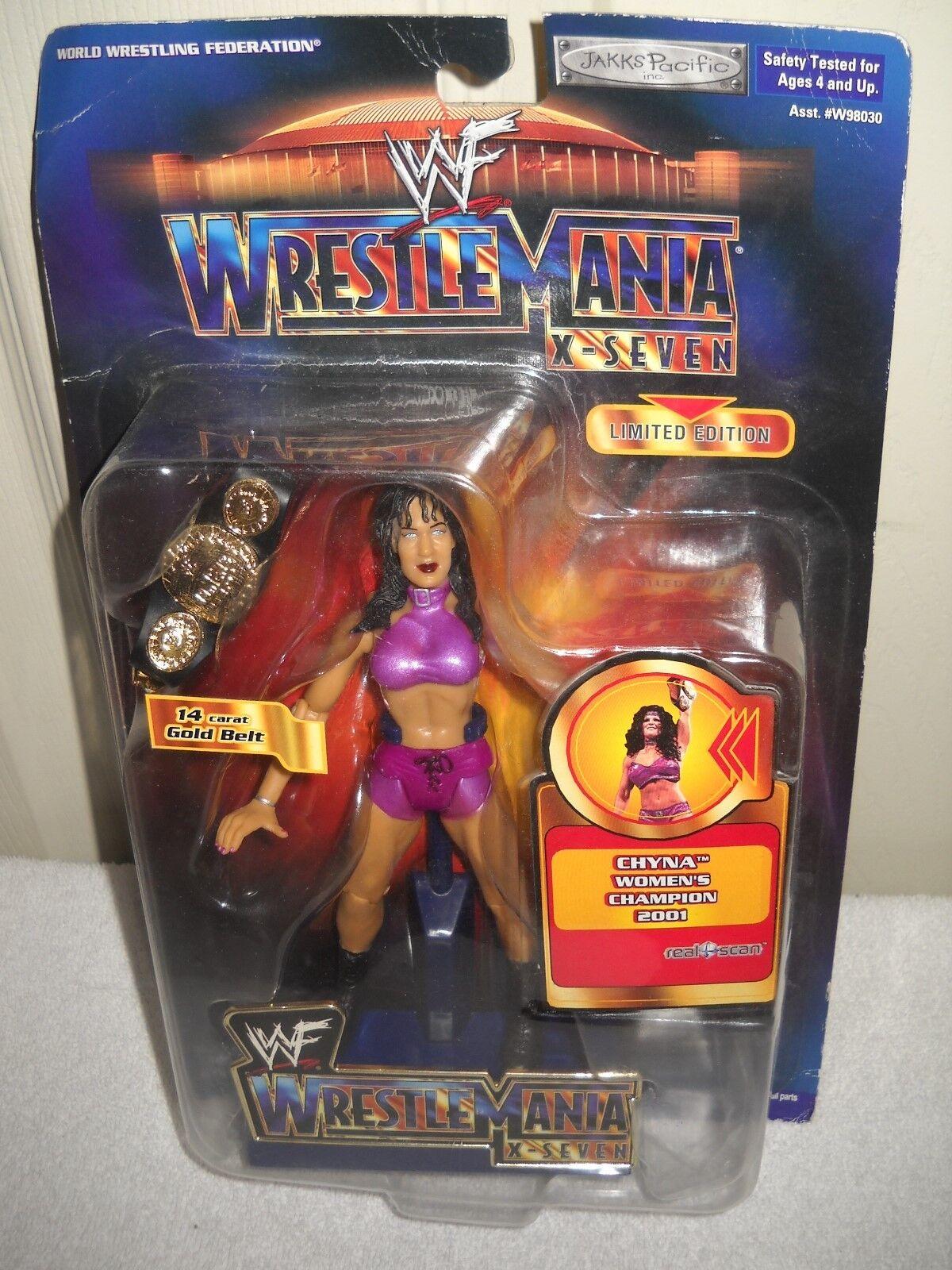 9253 noc jakks pazifik wf wrestlemania limited edition 2001 chyna action - figur