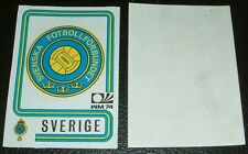 N°266 BADGE SVERIGE WM74 RECUPERATION PANINI FOOTBALL MÜNCHEN 74 MUNICH 1974