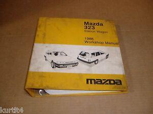 1988 Mazda 323 wagon wiring service shop dealer repair ...