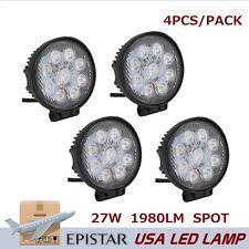 4PCS 27W LED WORK LIGHT CIRCLE FOG SPOT BEAM DRIVING LAMP TRUCK BOAT UTE SUV ATV