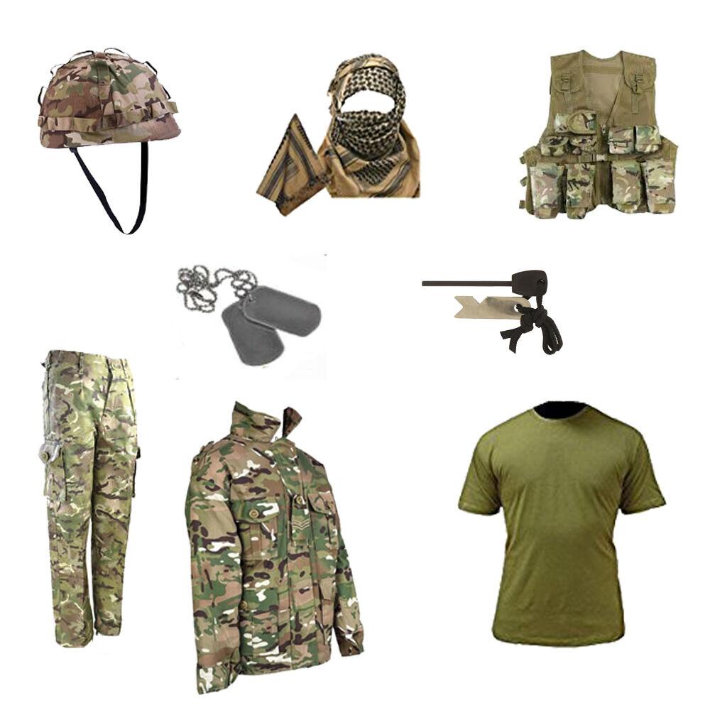 Kids Pack E armée militaire outdoor Déguisement Soldat Camouflage MTP//DPM