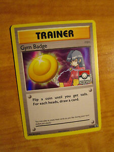 NM-LEAGUE-Pokemon-SABRINA-039-S-GYM-BADGE-Card-BLACK-STAR-PROMO-Trainer-XY208-Holo