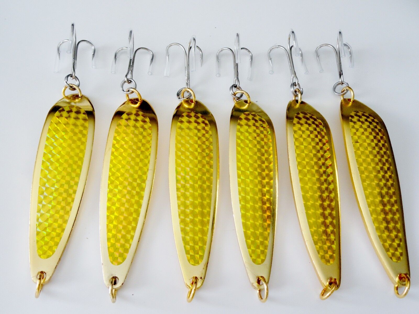 6 pcs Casting Casting Casting Spoons 1oz 2oz 3oz 5oz 7oz 9oz oro Krocodile Style Fishing Lures e667bc