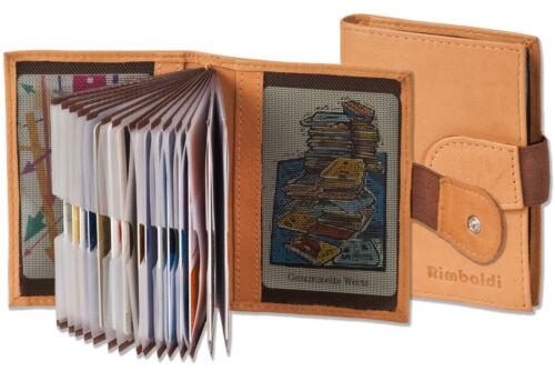 Carte di credito in pelle astuccio in marrone chiaro con flessibile parete esterne e molto spazio