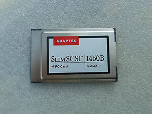 Adaptec-Slim-SCSI-1460B-1680800-A-Fast-SCSI-PCMCIA-Card-Centronics-50-pin-cable