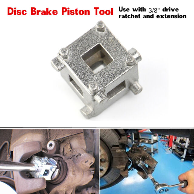 "Rear Disc Brake Piston Caliper Wind Back Cube 3/8"" Drive Tool Calliper Adaptor"