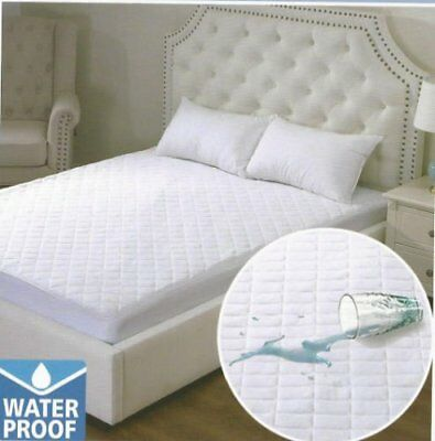 Waterproof Quilted Mattress Protector 4ft Topper Single