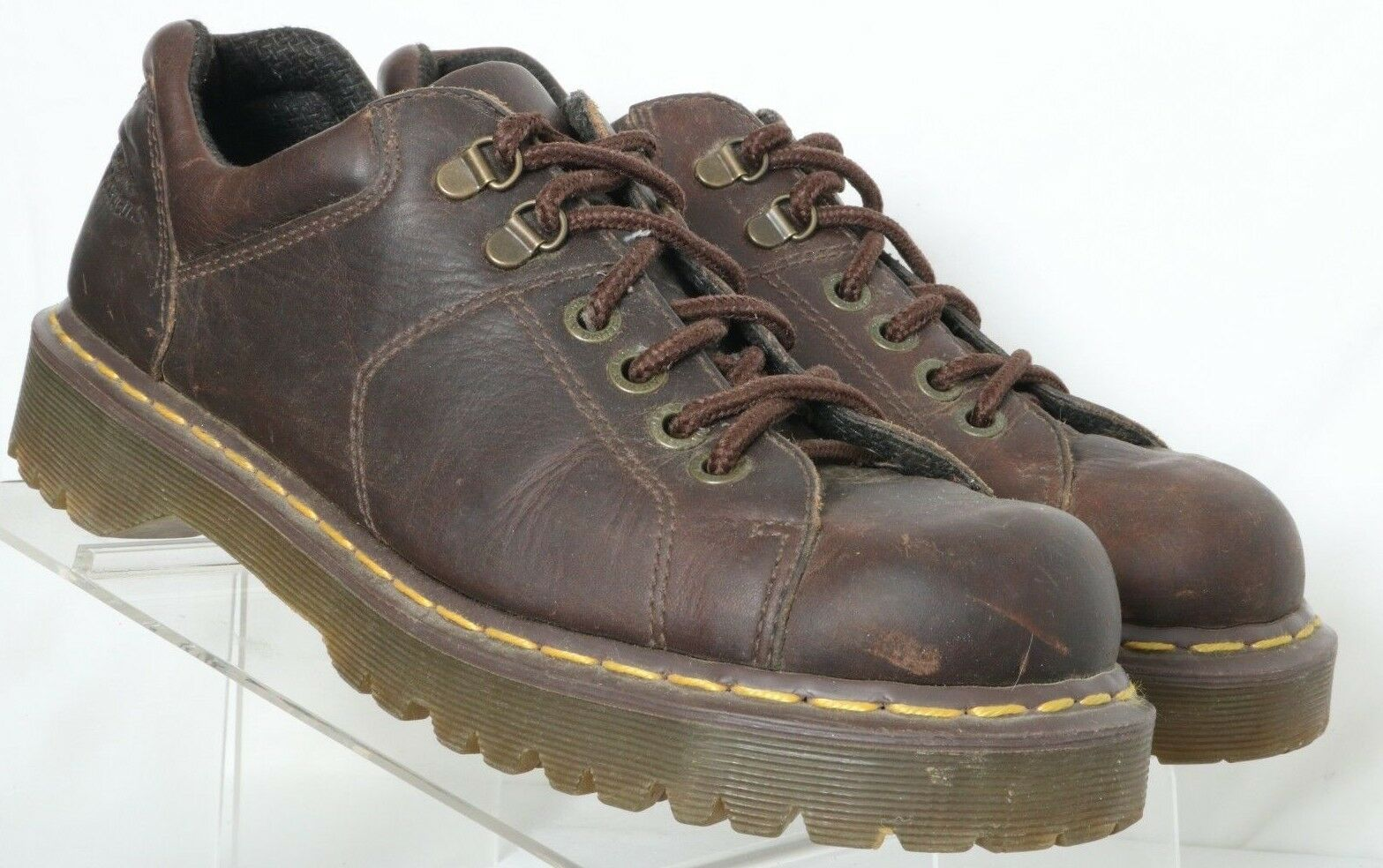 Dr. Marten's Doc Grizzly Brown Leather Casual Low Boot 8312 Men's US 10
