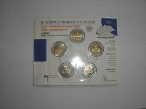 Set BU 5 x 2 euro commémorative Allemagne 2009 5 atelier A D F G J
