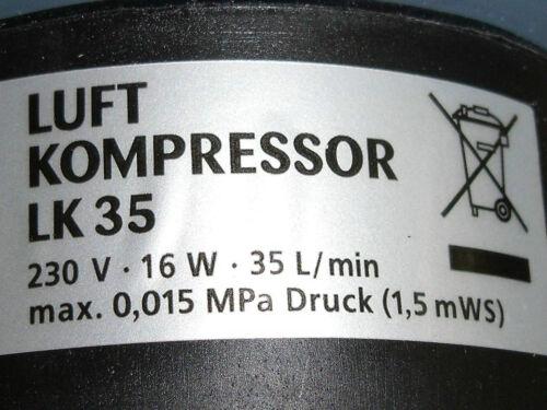 Osaga LK-35 Set Teichbelüfter Sauerstoffpumpe Belüfter Ausströmer 6 x Ø 25mm