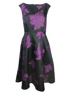 Black Jacques Flare 12 Womens Vert Fit And Dress Floral Size Purple xrErO