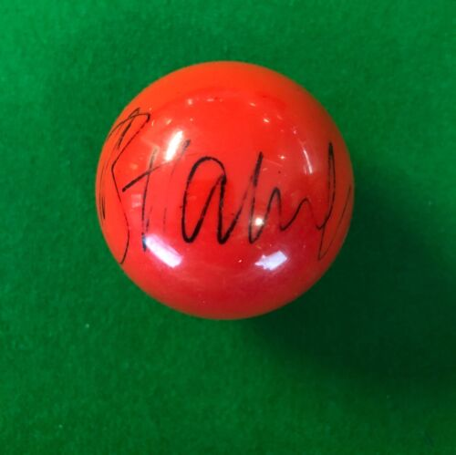 BARRY HAWKINS HAND SIGNED RED SNOOKER BALL 1.