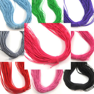 1-2mm-Round-Thin-Coloured-Beading-Milinery-Stretchy-Elasticated-Cord-80-metres