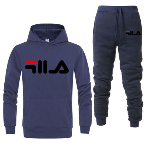 Mens Casual Sweatshirt Pullover Tracksuit Hoodies Two Piece Pants Sportshirt Set