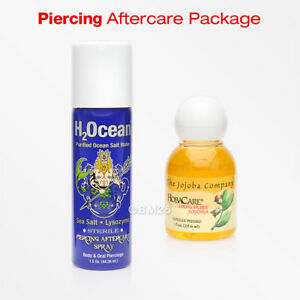 H2ocean Body Piercing Sea Salt Spray And Jojoba Oil Aftercare
