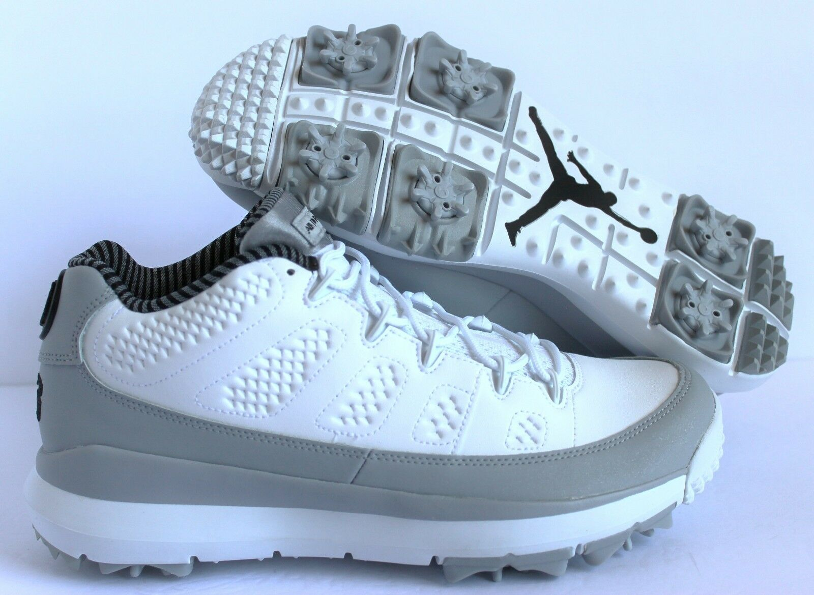 NIKE AIR JORDAN IX 9 RETRO GOLF WHITE-BLACK-WOLF GREY SZ 9.5 [833798-103]