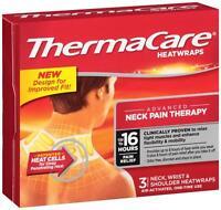 Thermacare Heatwraps - Neck Wrist Shoulder 16 Hours - 3 Wraps on sale