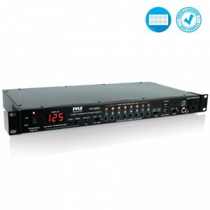 Worldwide//EU Outlets 2200W Pyle PS1200 8 Outlet Power Sequencer Conditioner
