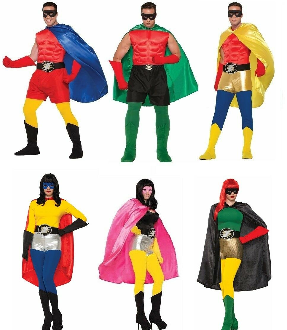 Be Your Own Hero Cape Superhero Halloween Adult Costume Accessory 6 COLORS