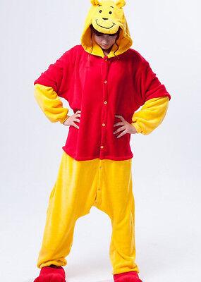 Adult Kigurumi Animal sleepsuit Pajamas Costume Cosplay Winnie The Pooh Ones