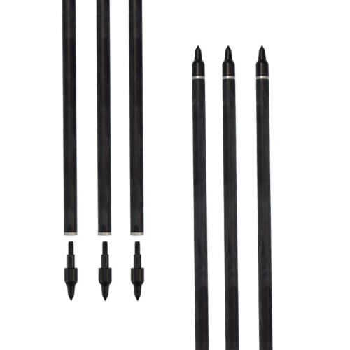 Details about  /6x 20in Carbon Arrows for Crossbow Bolts Target Hunting Shooting With Broadheads