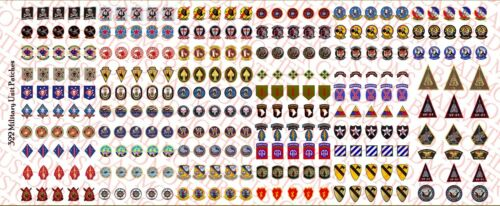 1//18 Custom decals nous unités militaires ARMY NAVY United States Marine Corps-Waterslide Decals
