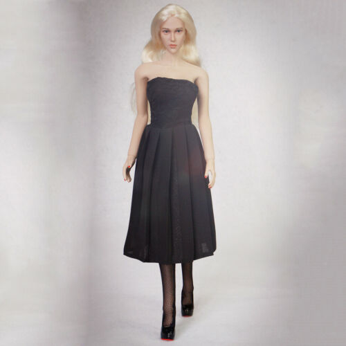1//6 Scale Strapless Dress /& High Heels for 12 inch Female Figure