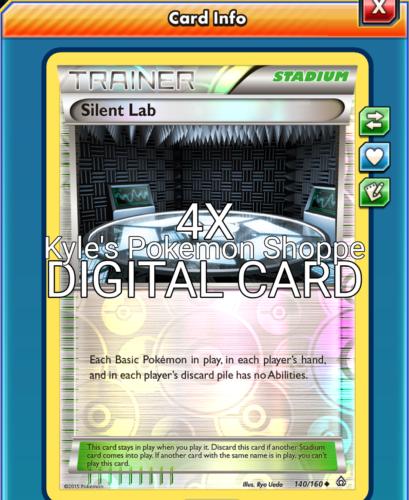 Negative Discard 4x Minun ptcgo in Game Card - for Pokemon TCG Online