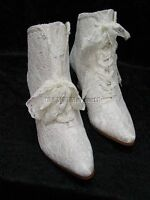 Victorian Wedding boots Edwardian Granny style lace boots size 6-12 ivory color