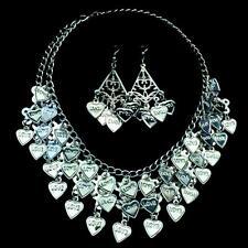 Bauchtanz Belly Dance Schmuckset Kette Halskette Ohrringe Münzenkette Tribal