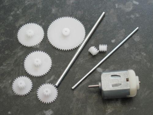 3V 3 volt 13100 moteur DC rpm arbres pignons Gears 10mm worm gear modèle projets