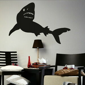 Great Shark  Fish Wall Transfer  Large Aquatic Decor  Fish Wall Stickers fi33 - Tamworth, Staffordshire, United Kingdom - We offer a 100% customer satisfaction gaurantee, if you are unhappy with the item for any reason you will be entitled to a refund/replacement, where a replacement is required due to change of mind the customer wil - Tamworth, Staffordshire, United Kingdom