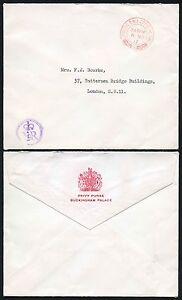 ROYALTY BUCKINGHAM PALACE ENV.PRIVY PURSE OFFICIAL PAID 1969 VFU + ER HANDSTAMP