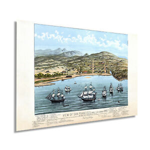 HISTORIX-Vintage-1884-San-Francisco-Map-Art-View-of-Vintage-San-Francisco