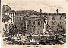 1887  --  TREMBLEMENT DE TERRE    MENTON LE QUARTIER BAS    3K510