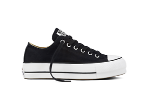Converse-scarpe-donna-Chuck-Taylor-All-Star-Platform-Canvas-Low-Top-nero