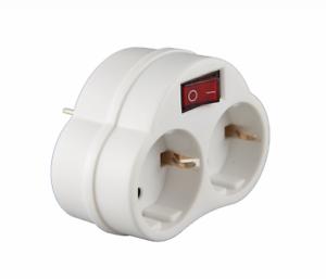 2-fach-Multistecker-mit-Ein-Aus-Schalter-Adapterstecker-Schutzkontakt-Verteiler