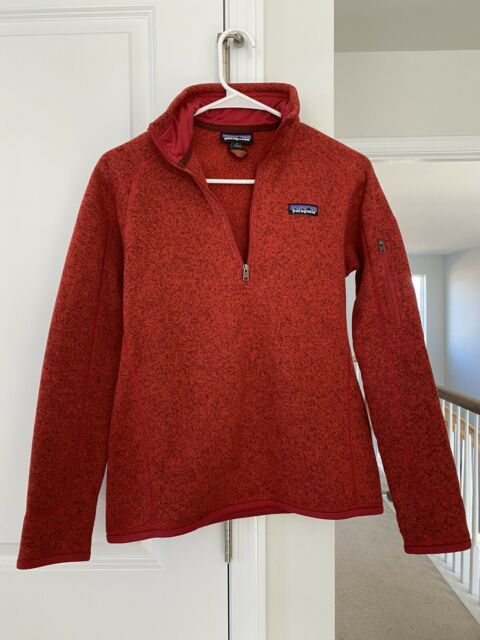 Patagonia Better Sweater Fleece 1/4 Zip Pullover Red Womens Size Small S