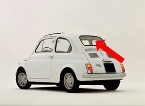 Dettagli Su Fiat Classica 500 Posteriore Finestrino Parabrezza Vetro Schermo Originale