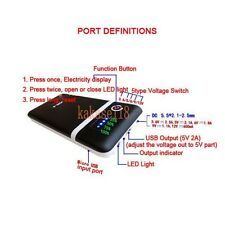 Dual USB 5V 9v 12v 1A 2A Mobile Power Bank Charger Box For 18650 Battery Phone