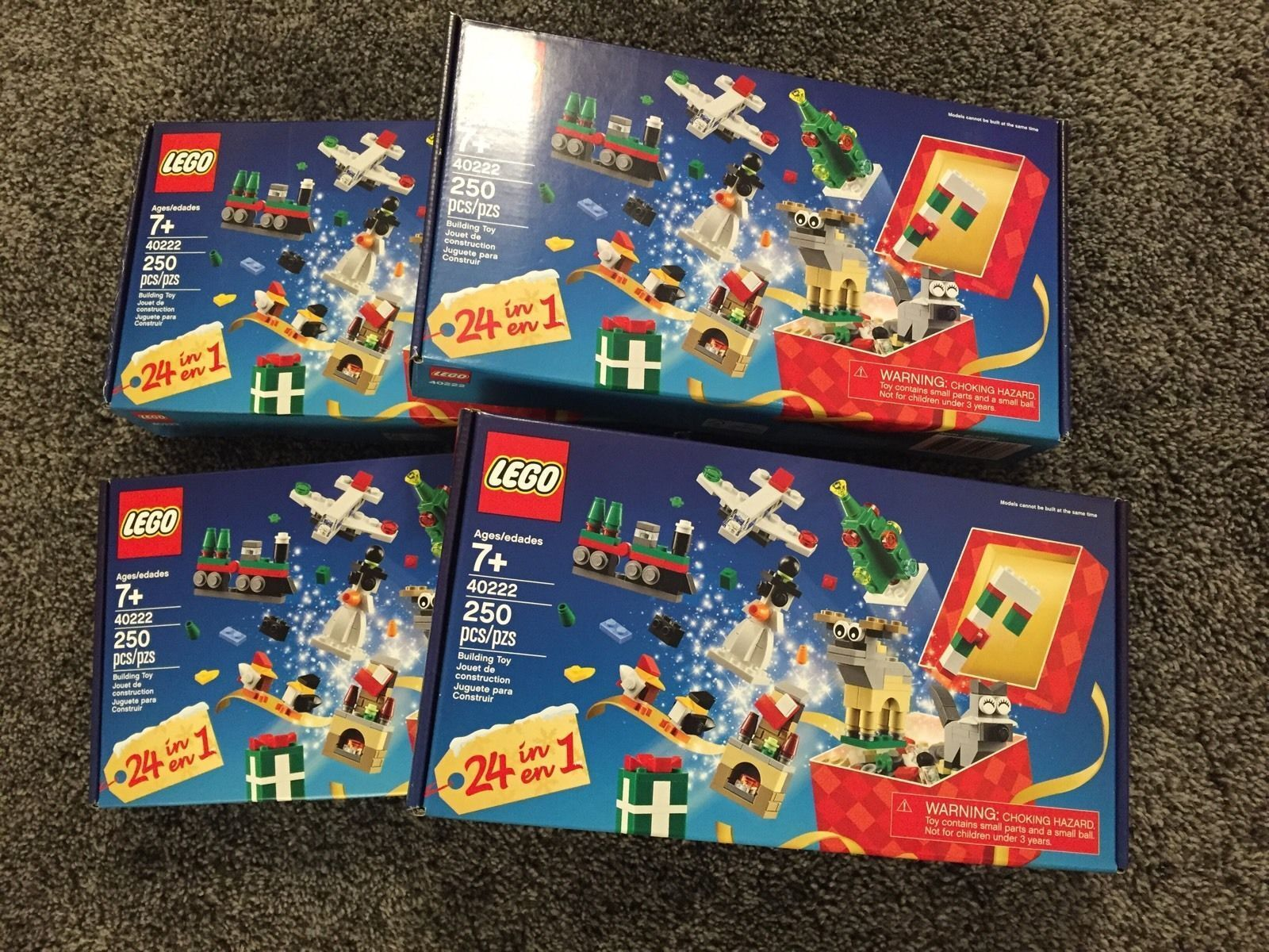 4x Lego 40222 Promotional Exclusive 24-In-1 Christmas Countdown Set 4 Sets