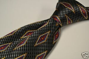 Jos-A-Bank-Signature-Gold-Limited-Ed-26-100-Black-Silver-Green-Metallic-Tie